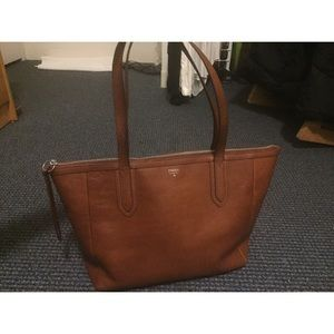 Gorgeous Nude Brown Fossil Bag - Real Leather -
